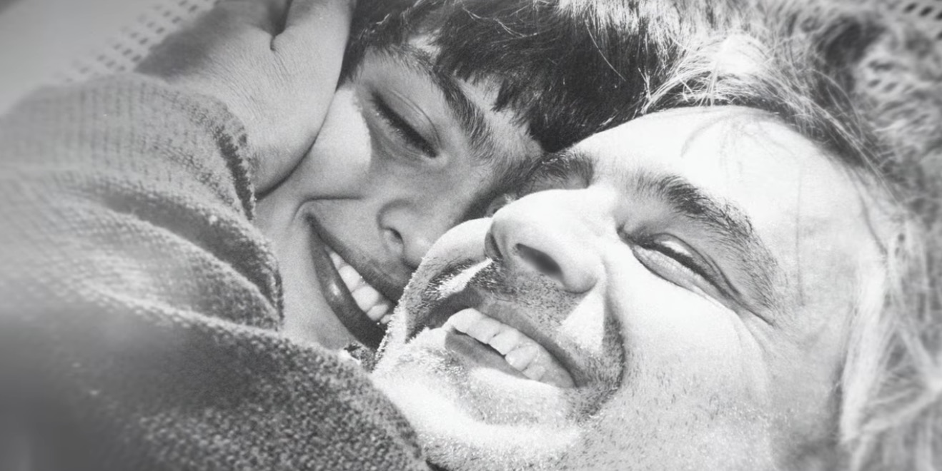 Papà e figlio felici