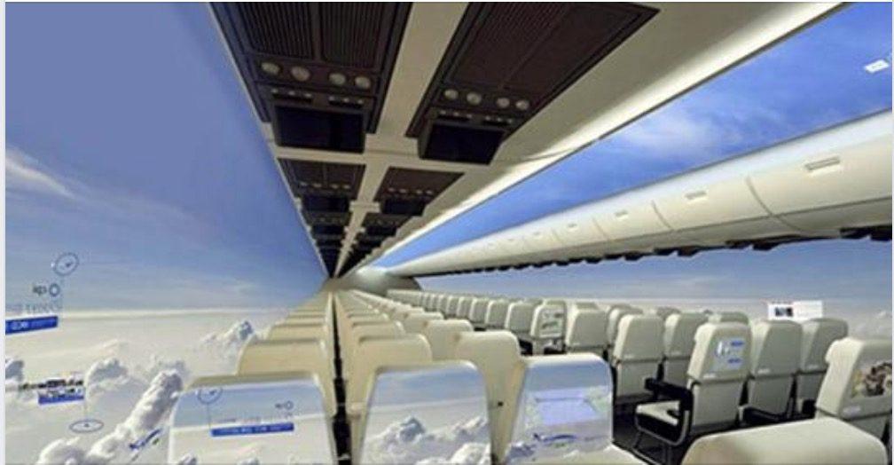 Vi piacerebbe volare su un aereo senza finestrini? In futuro si potrà!