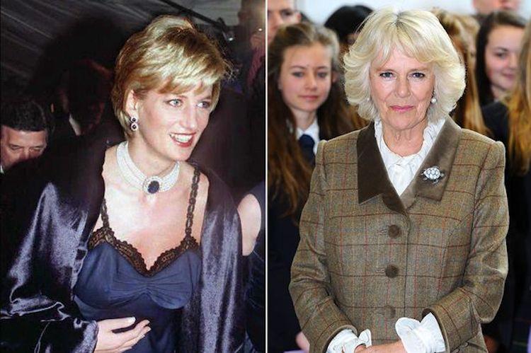 La principessa Diana con Camilla