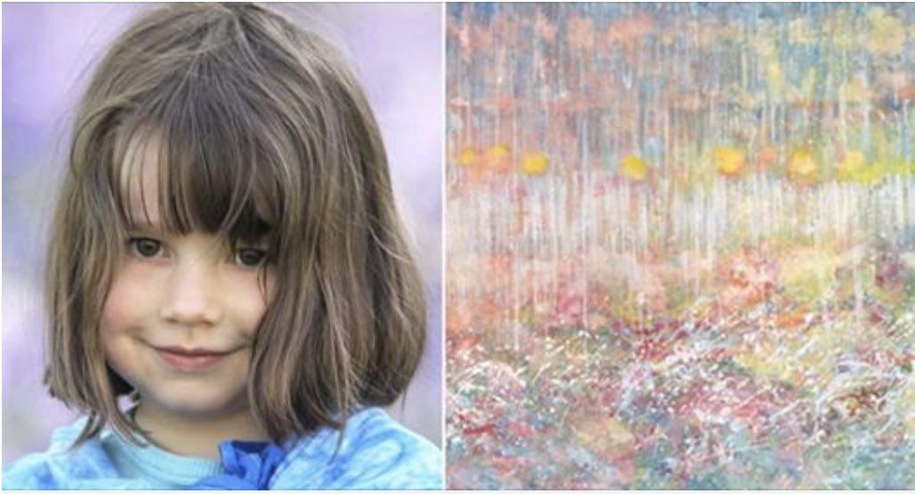 Photo of Una bimba autistica di 5 anni incanta tutto il mondo con le sue emozionanti opere d'arte