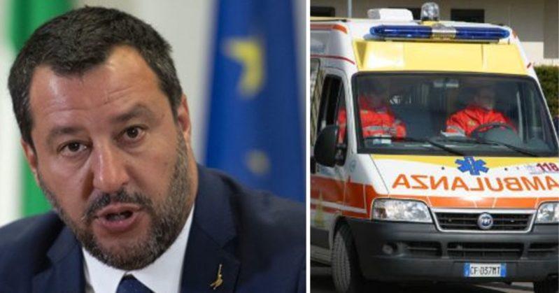 Matteo Salvini in ospedale