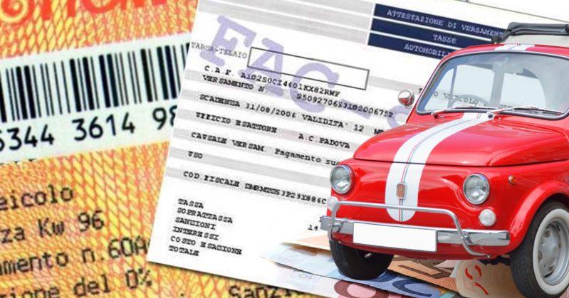 Bollo auto non pagato, il Decreto fiscale lo annulla