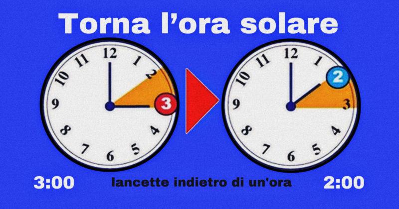 cambio ora solare