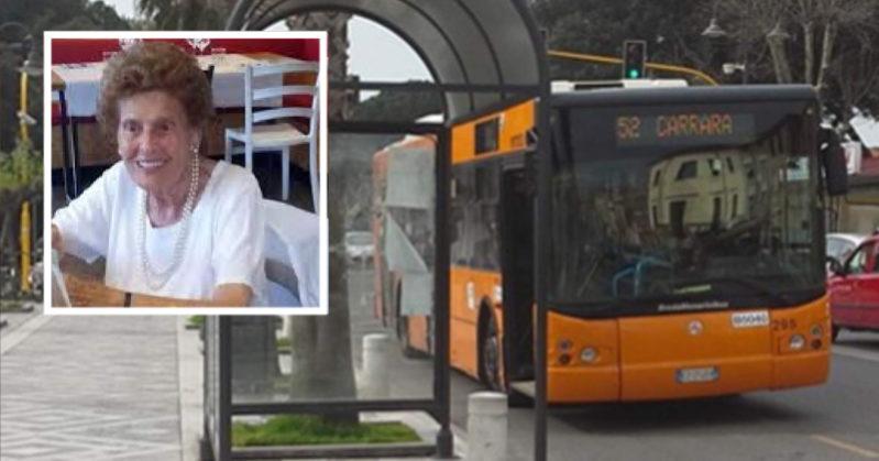 multata anziana bus