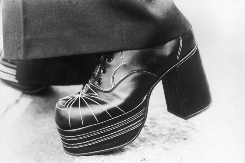 Scarpe con la zeppa anni 70