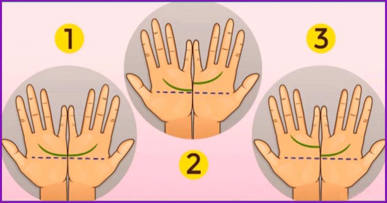 Linee della mano che combaciano, significato