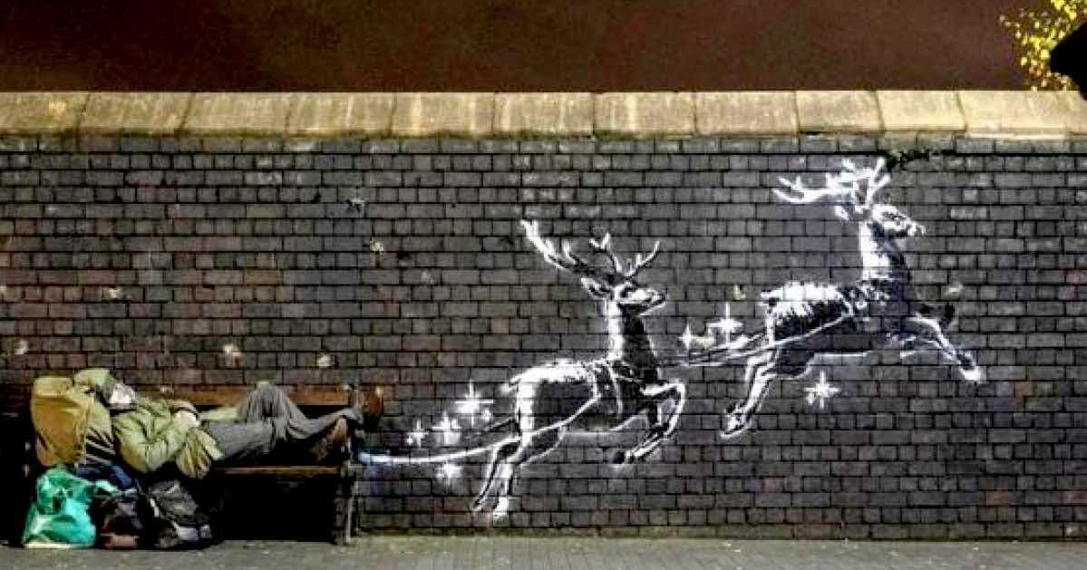 Banksy Babbo Natale