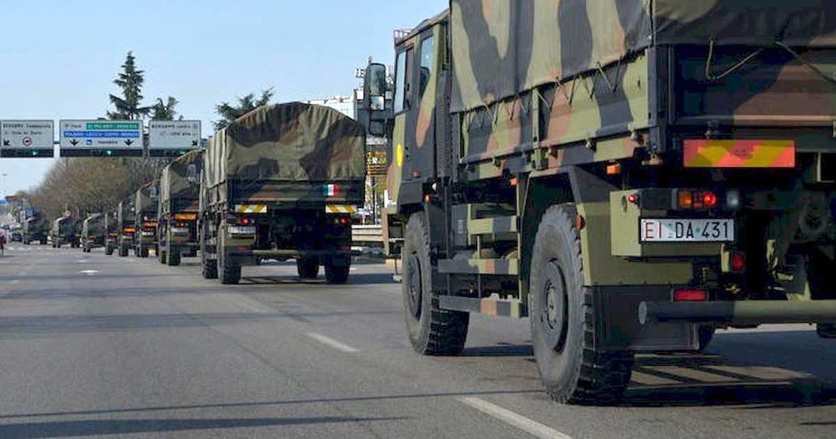Camion militari vittime Coronavirus