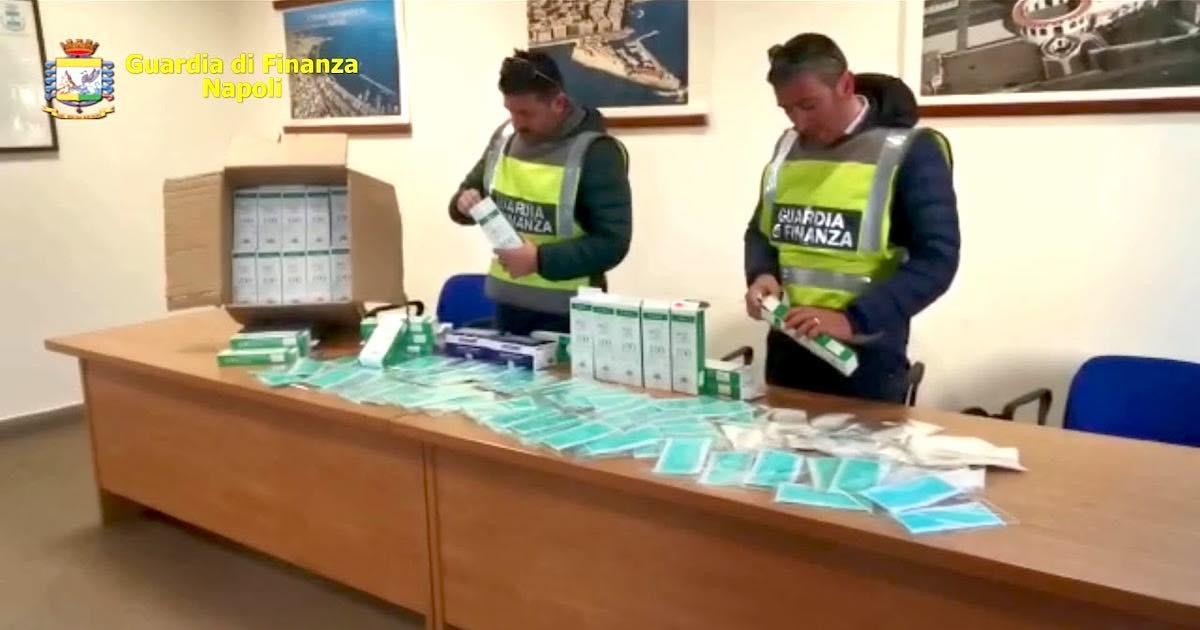 Guardia di Finanza sequestra 10mila mascherine