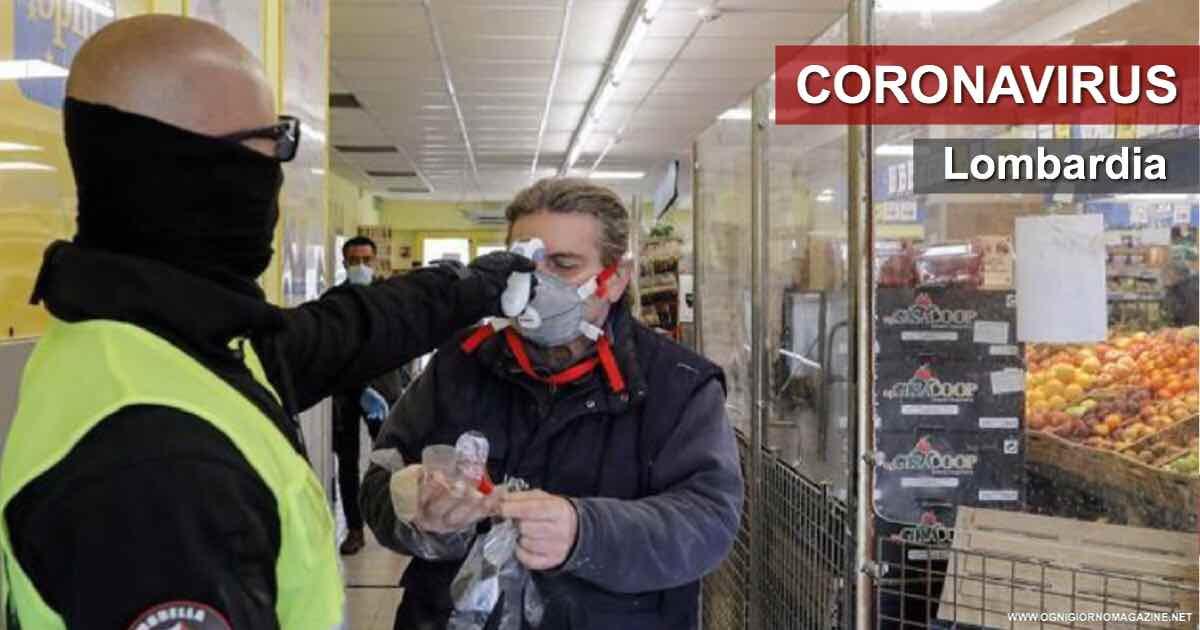 Coronavirus Lombardia. Misurazione della febbre nei supermercati