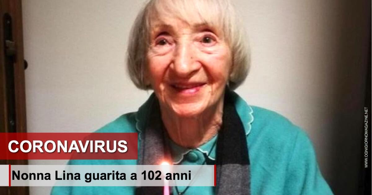 Nonna Lina guarita a 102 anni