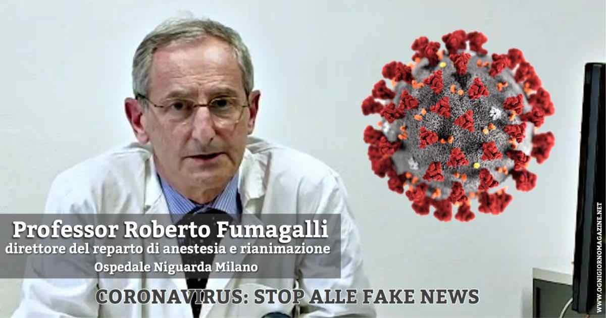 Fumagalli: audio sul Coronavirus in rete sono falsi