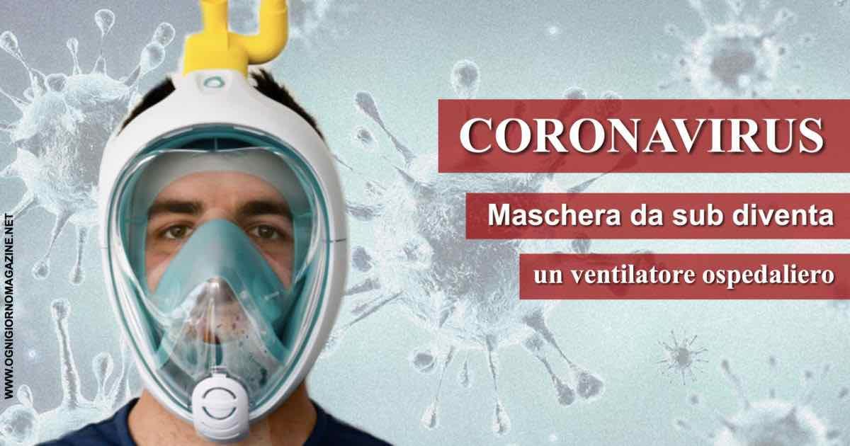 Maschera da sub diventa un ventilatore ospedaliero