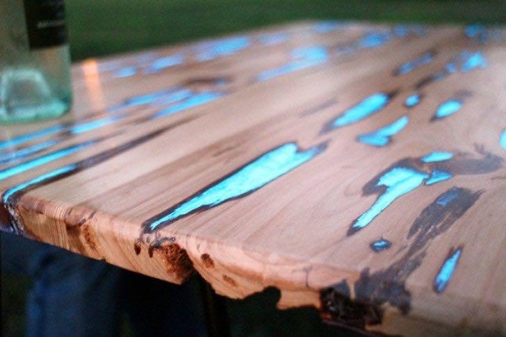 Creazioni, tavolo luminoso