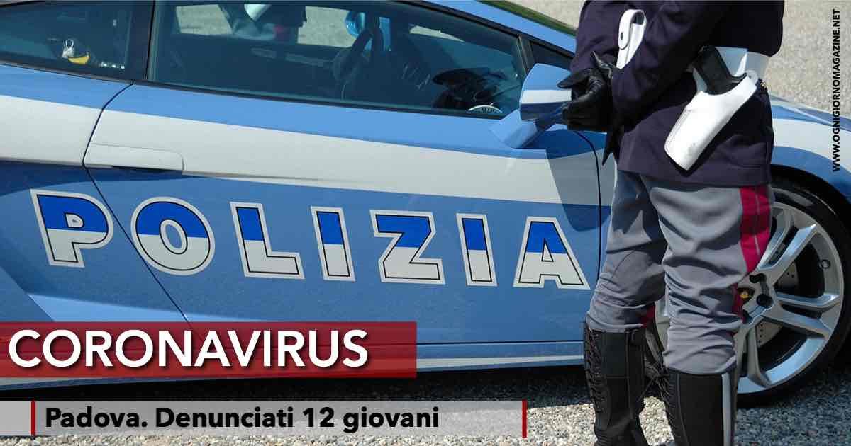 12 giovani denunciati a Padova