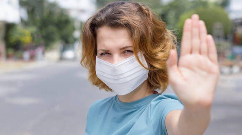Coronavirus estate 2020 mascherine