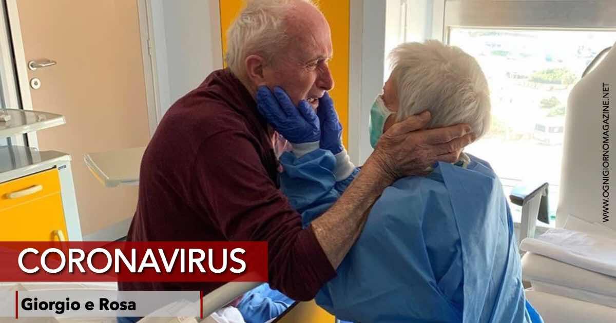 Coronavirus, l'abbraccio commovente tra Giorgio e Rosa