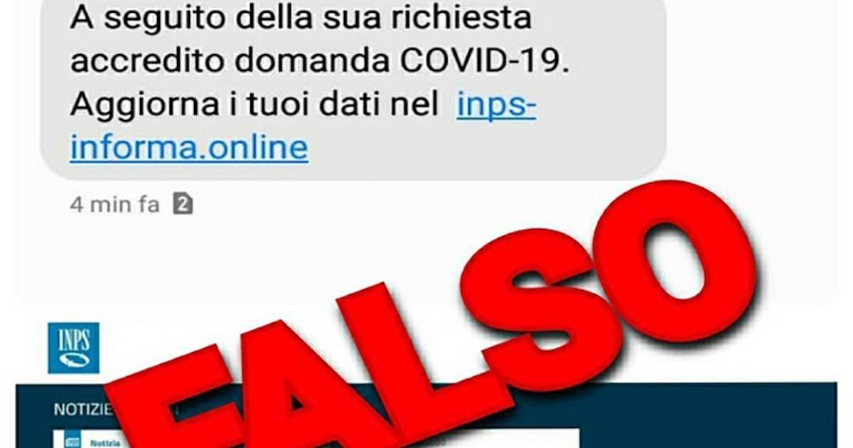 falso messaggio dell'Inps