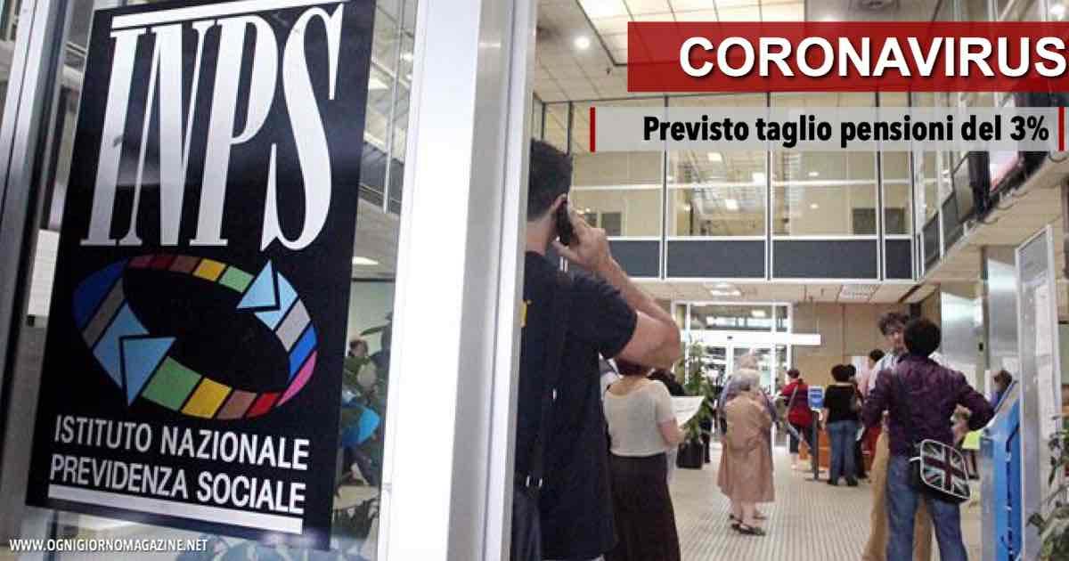 Il Coronavirus colpisce le pensioni