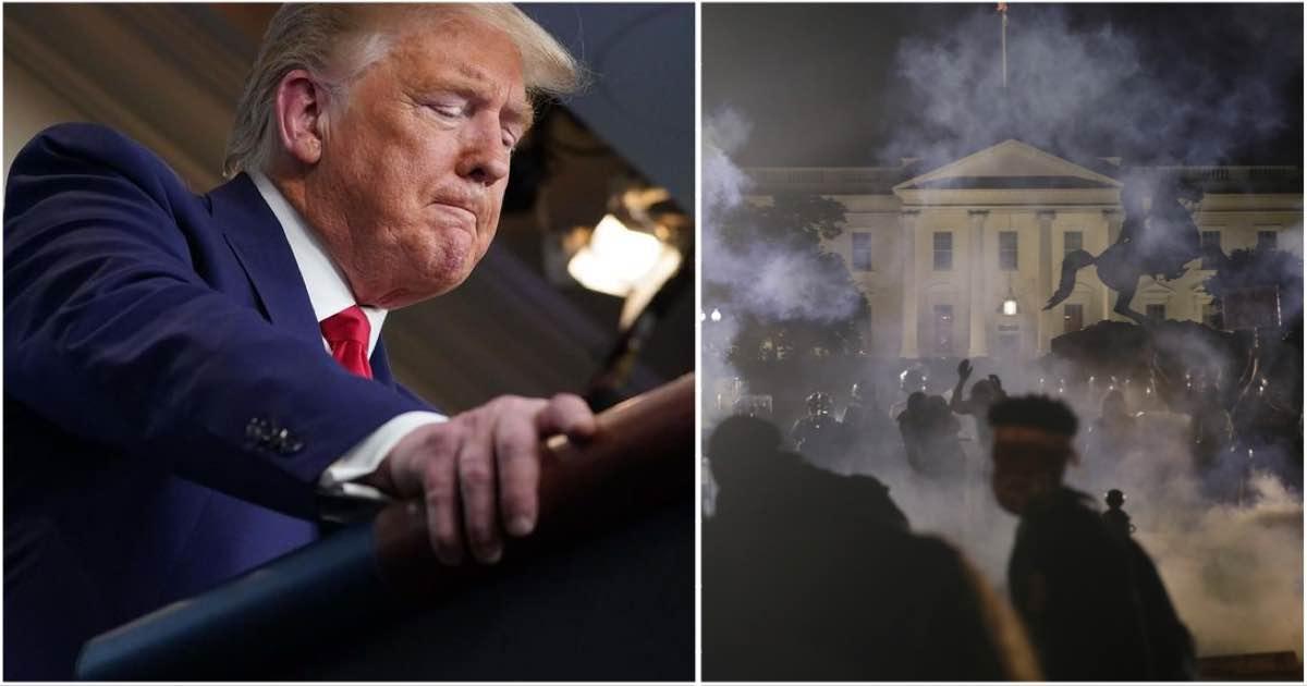 Trump portato nel bunker della Casa Bianca