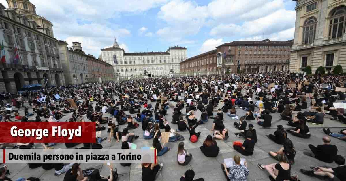 8 minuti di silenzio a Torino per George Floyd