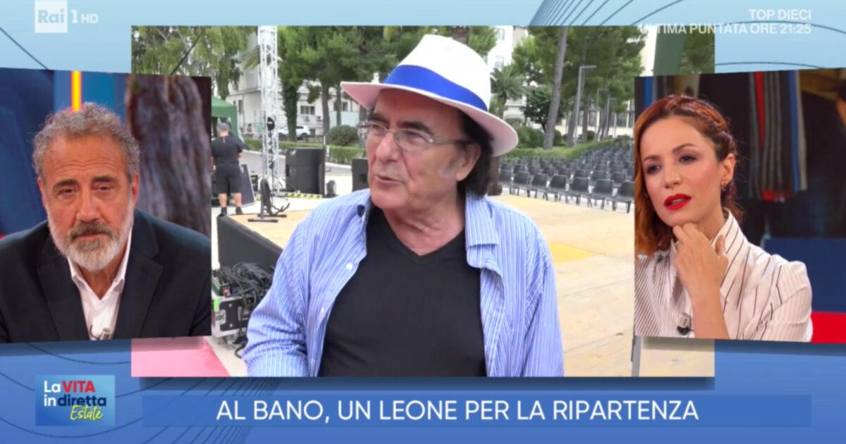 Al Bano annuncia il suo funerale a La Vita in Diretta Estate