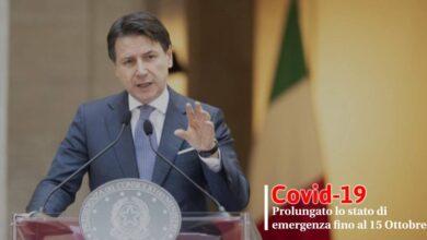 Photo of Covid-19: Prolungato lo stato di emergenza fino al 15 Ottobre