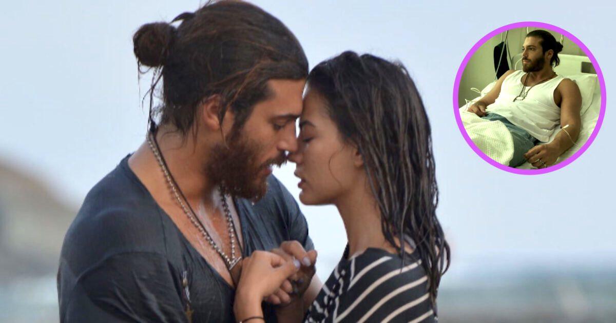 Can Yaman finisce in ospedale dopo aver baciato Demet Özdemir