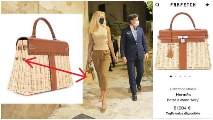 Dettagli della borsa di Olivia Paladino