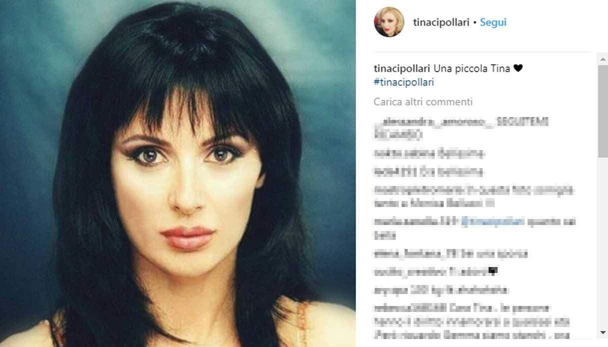 Tina Cipollari magrissima e con i capelli neri