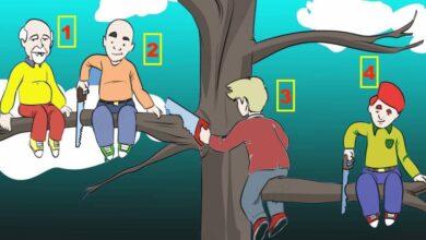 Photo of Test psicologico: quale uomo cadrà per primo dall'albero? La tua risposta rivela i tratti più incisivi della tua personalità