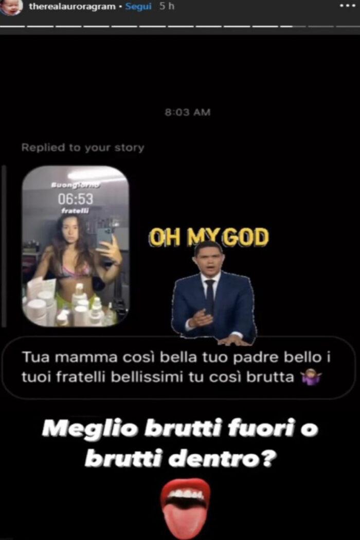 Aurora Ramazzotti attaccata sui social