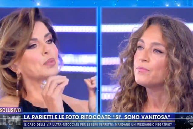 Scontro furioso tra Alba Parietti e Caterina Collovati