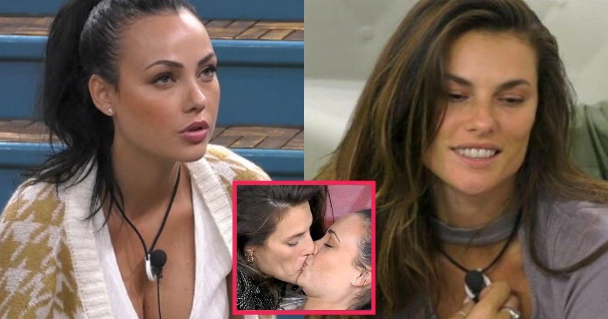 Dayane Mello baci hot con Adua del Vesco