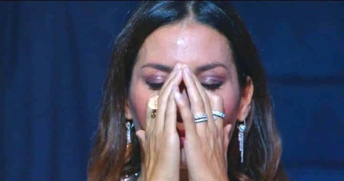 Elisabetta Gregoraci in lacrime per il figlio