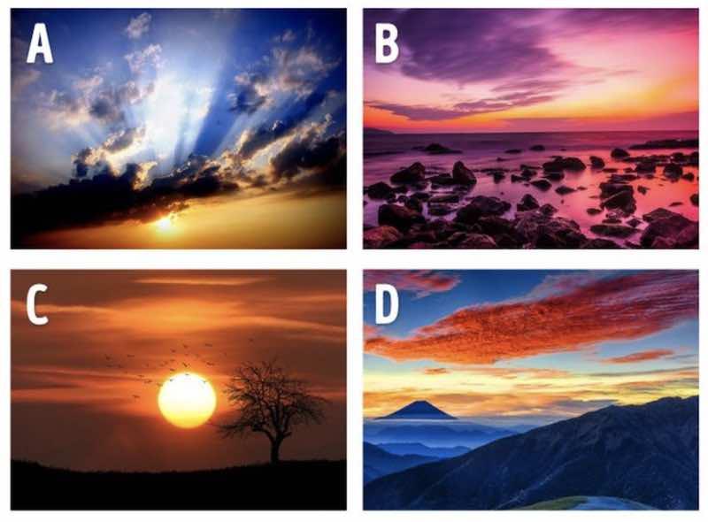 Quale di questi tramonti ti piace di più?