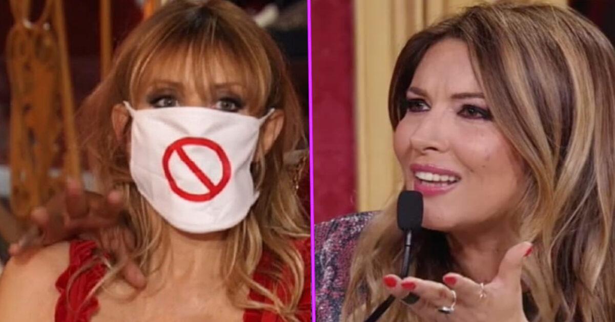 Alessandra Mussolini scaglia la mascherina contro la Lucarelli