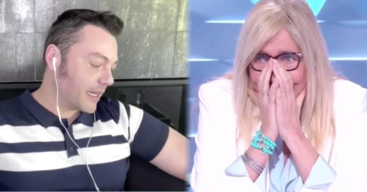 Domenica In, Tiziano Ferro scoppia in lacrime per la nonna