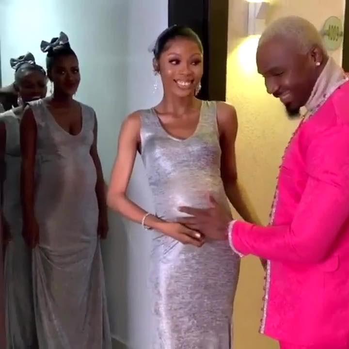 Influencer ruba la scena agli sposi Mike Eze-Nwalie Nwogu