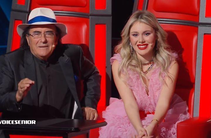 Jasmine Carrisi con il suo look da principessa a The Voice Senior
