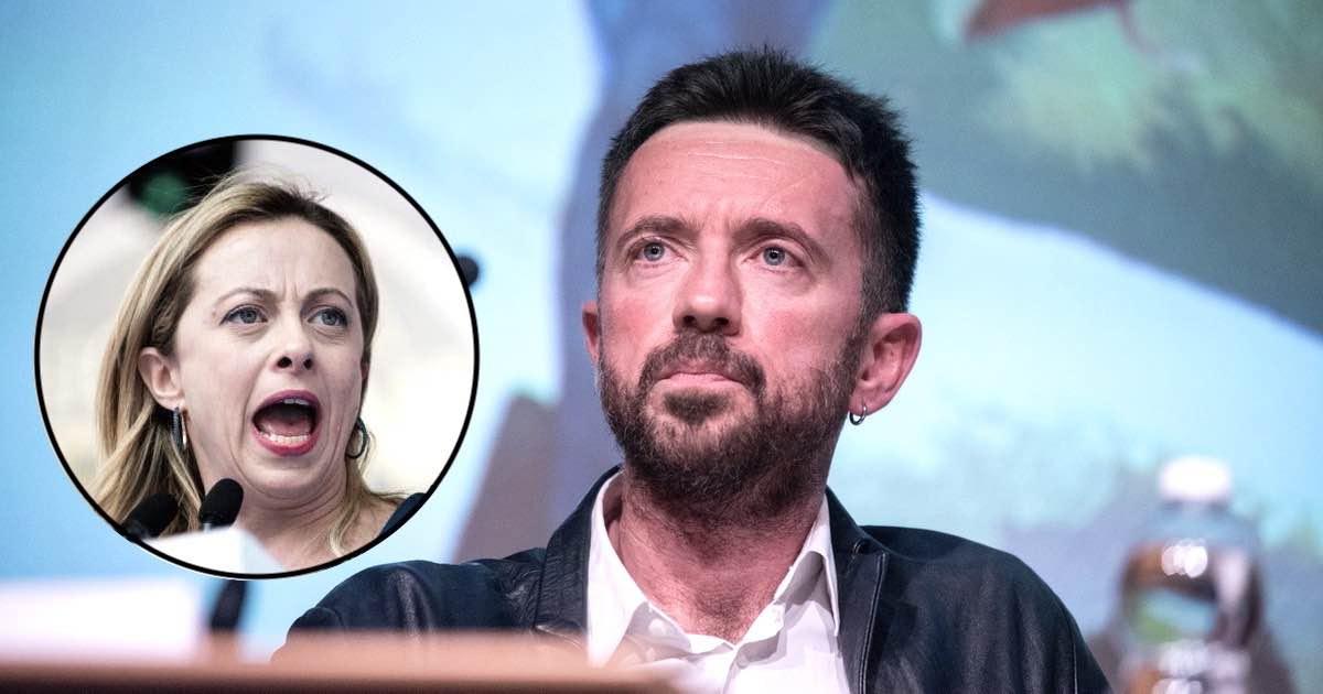 Andrea Scanzi tuona contro Giorgia Meloni urla meno
