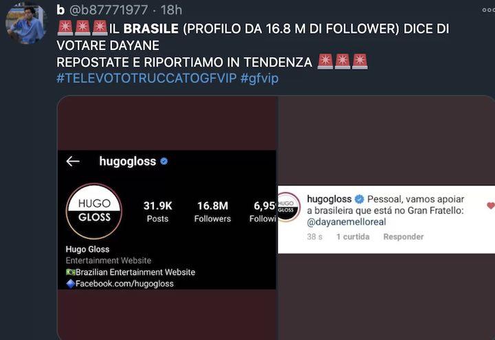Si rinnovano le polemiche sul televoto truccato al GF Vip con lo scontro tra Italia e Brasile