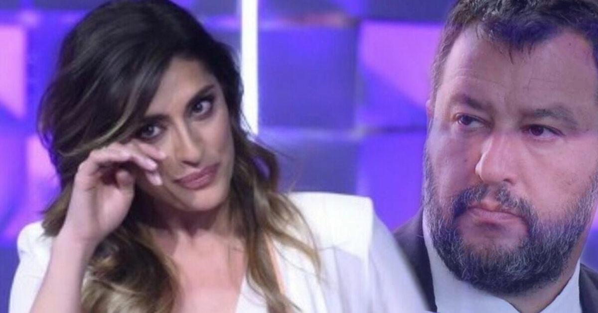 Elisa Isoardi in lacrime per Matteo Salvini