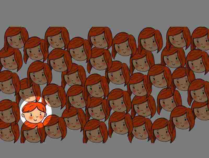 riesci a trovare il ragazzo che si nasconde tra le ragazze (2)