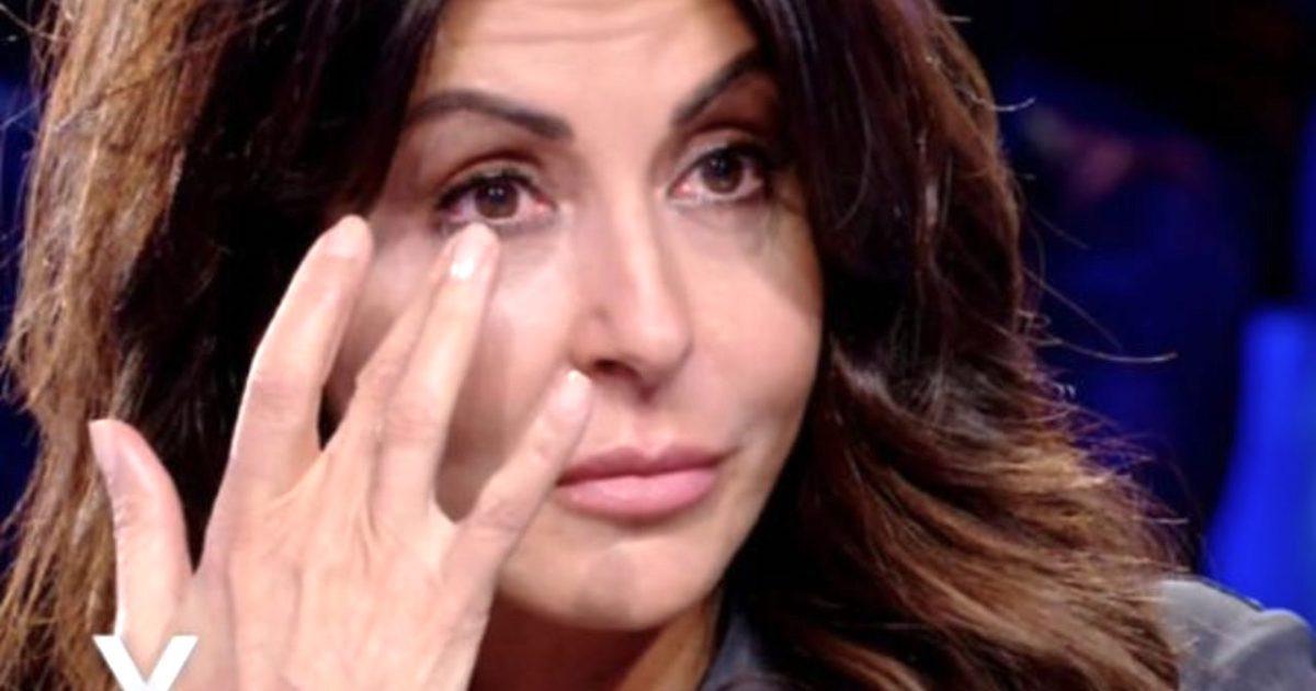 Verissimo Sabrina Ferilli scoppia in lacrime