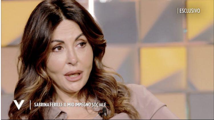 Verissimo Sabrina Ferilli scoppia lacrime